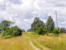Rural landscape in the Kostroma region