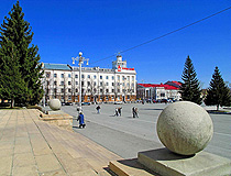 The central square in Kurgan