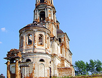 Abandoned church in Kurgan oblast