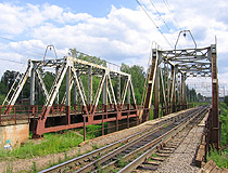 Railway bridge in Leningradskaya oblast