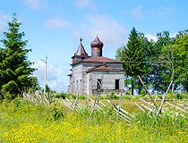 Abandoned wooden church in Leningrad oblast