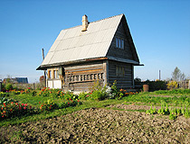 Classical Russian dacha in the Leningrad region