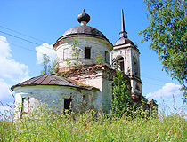 Abandoned church in the Leningrad region