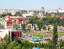 Peter the Great Square and general view of Lipetsk