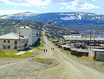 Magadan city view