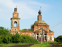 Mordovia region abandoned church
