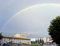 Rainbow after the rain in Nalchik