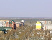 Nefteyugansk street from above
