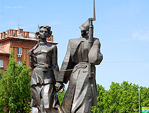 Monument to the first members of Komsomol in Nizhny Tagil