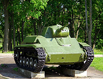 Light tank T-70 in Veliky Novgorod