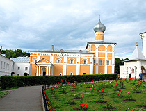 In the monastery courtyard in the Novgorod region
