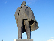 Lenin monument in Novosibirsk