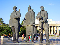 The monument to revolutionaries in Novosibirsk