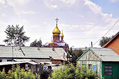 Orthodox church in the Novosibirsk region
