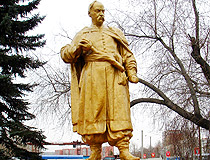 Bogdan Khmelnitsky monument in Omsk
