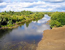 Small river in Omsk oblast
