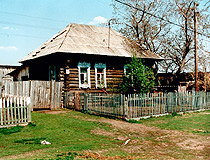 Wooden house in the Omsk region