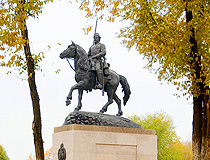 The monument to Cossacks in Orenburg