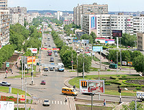 Busy street in Orenburg