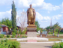 Bohdan Khmelnitsky monument in Orsk