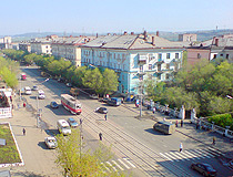 Orsk street from above