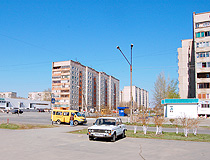 Multi-storey apartment buildings in Orsk