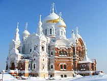 Perm province frozen cathedral