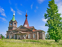Wooden church in the Perm region