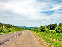 Paved road in Perm province