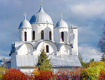 Beautiful ancient church in Pskov