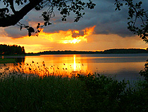 Sunset in Pskov oblast