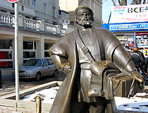 The monument to a merchant-peddler in Rostov-on-Don