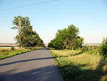 Paved road in the Rostov region