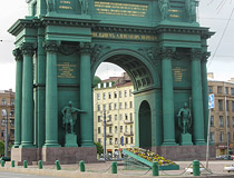 Arch of Triumph on Stachek Square in St. Petersburg