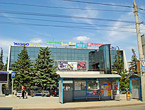 A bus stop and an entertainment center in Samara
