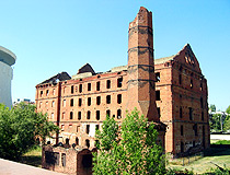 Gerhardt's Mill destroyed during the Battle of Stalingrad