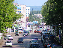 Busy street in Sterlitamak