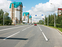 Apartment buildings in Surgut