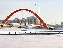 The bridge at the entrance to Surgut