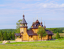 Wooden church in Sverdlovsk oblast