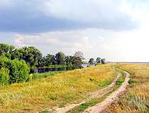 Field road in the Tambov region