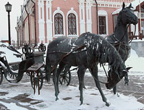 Chaise monument in Tobolsk