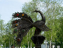 Firebird in the park in Tobolsk