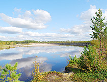 Small lake in Tomsk oblast