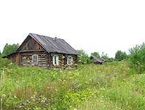 Abandoned village in Tomsk oblast
