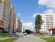 In the residential area of Tomsk