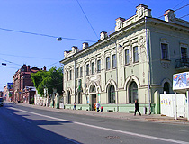 On the street in the historical center of Tomsk