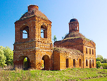 Abandoned church in the Tula region