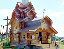 Wooden church in Tver oblast