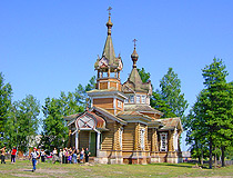 Wooden church in Tyumen province